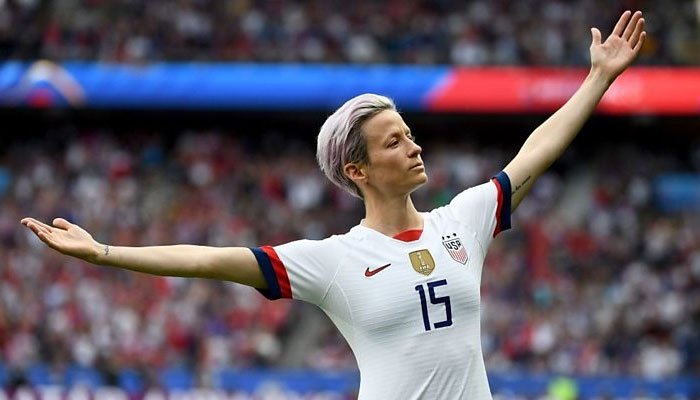 34-year-old was the star of this year's Women's World Cup as the United States successfully defended their title. PHOTO: AFP