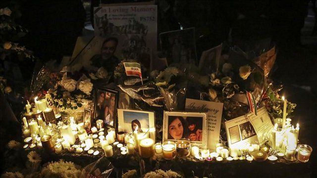 A candlelight memorial held in honour of people lost aboard Flight 752. PHOTO: ANADOLU AGENCY