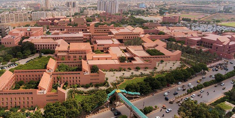 Top view of the Agha Khan University Hospital in Karachi. PHOTO: AKU