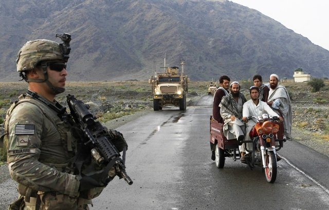 A file photo of US troops in Afghanistan. PHOTO: REUTERS