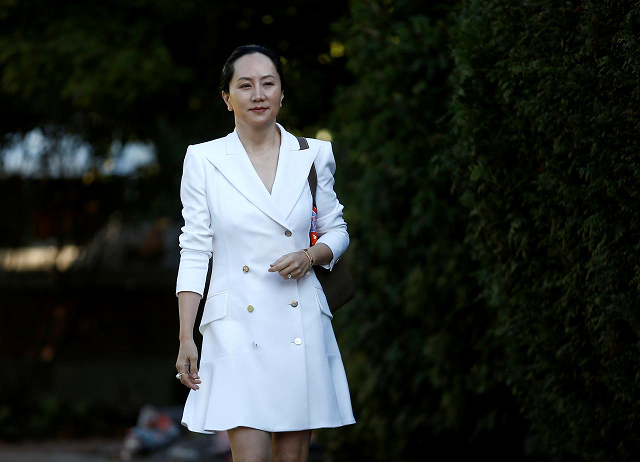 Huawei Technologies Chief Financial Officer Meng Wanzhou leaves her home to appear in British Columbia supreme court for a hearing, in Vancouver, British Columbia, Canada September 30, 2019.  PHOTO: REUTERS