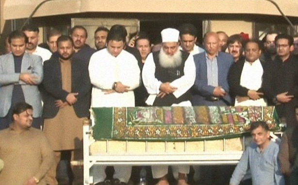 Politicians belonging to both opposition and govt attended the funeral prayer
