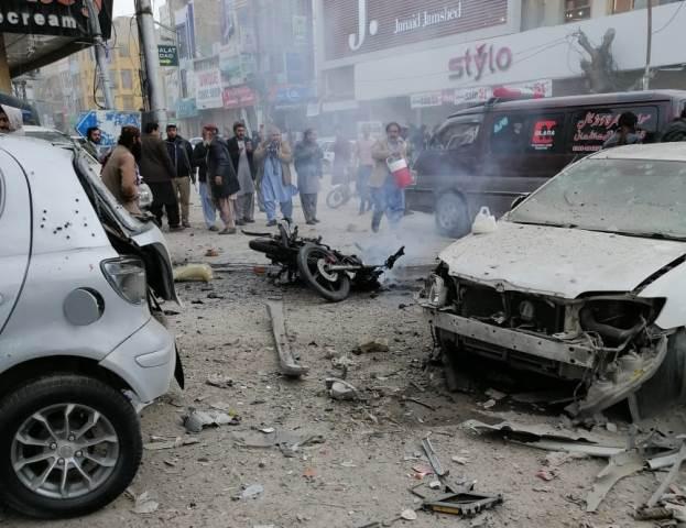 The blast occurred on Sharea Iqbal. PHOTO: EXPRESS
