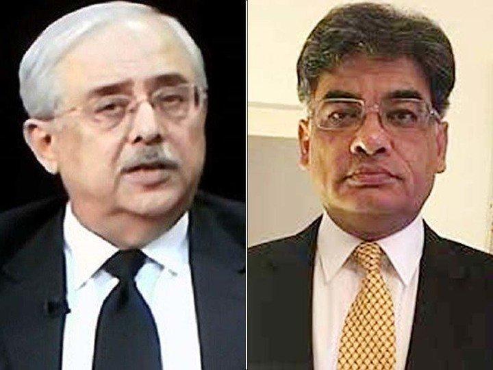 File photo of Anwar Mansoor Khan (left) and Khalid Javed Khan (right)