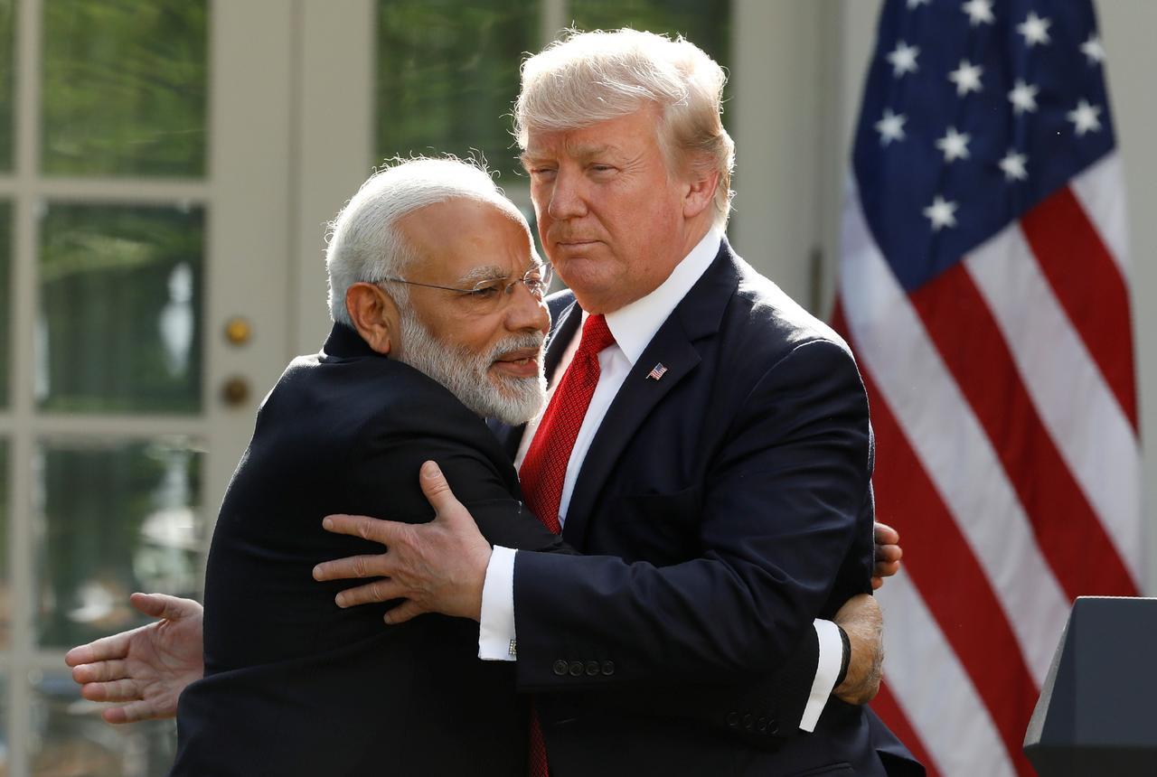 A Reuters file photo US President Trump and Indian Premeir Narendra Modi.