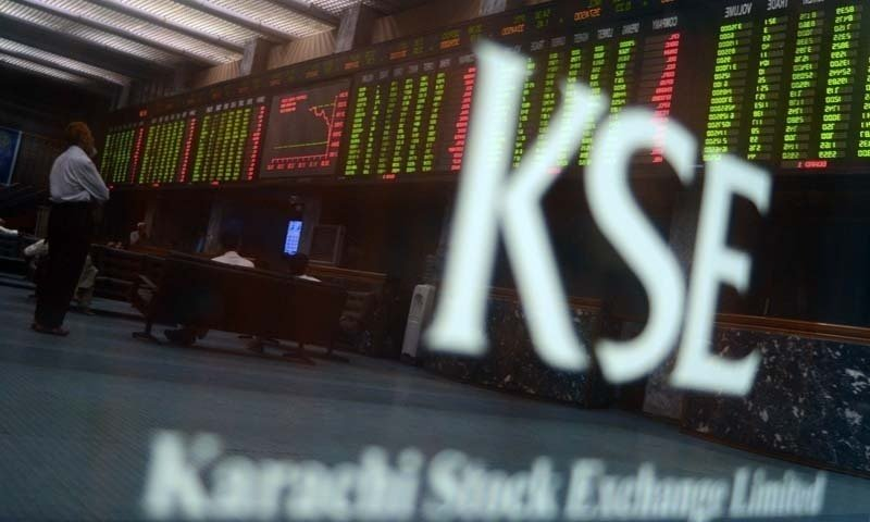 Benchmark index decreases 1.34% to close at 38,338.33. PHOTO: AFP