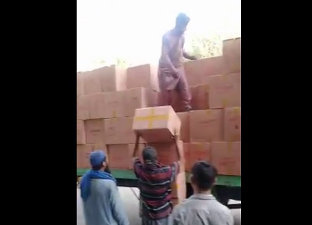 Inland Revenue Enforcement Network seizes 1,290 cartons of cigarettes, 'largest amount in Pakistan's history'. SCREENGRAB