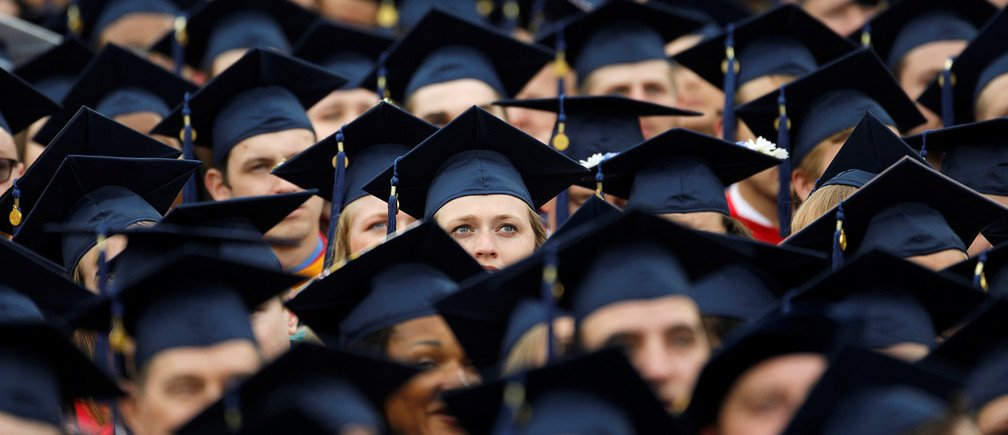 A Reuters file photo of students at a graduation ceremony.