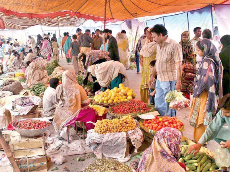 Due to the virus outbreak all markets of the province were closed, however, the food market was open so that people could get supplies. PHOTO: FILE