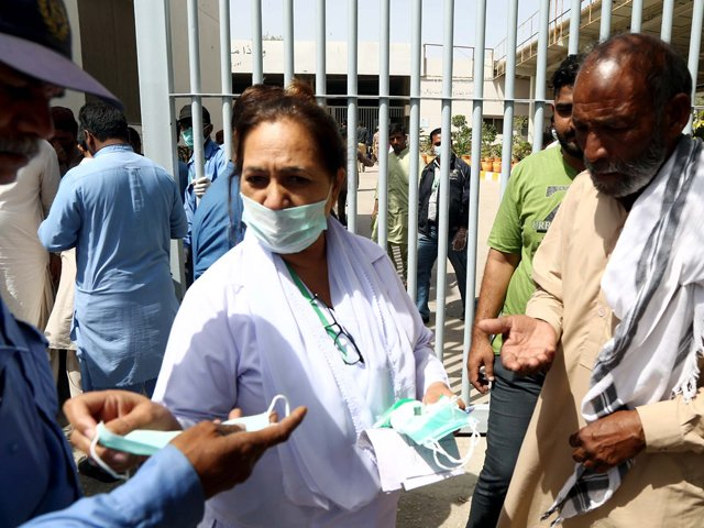 Medical professionals worried by lack of safety precautions at government hospitals across country. PHOTO: PPI/FILE