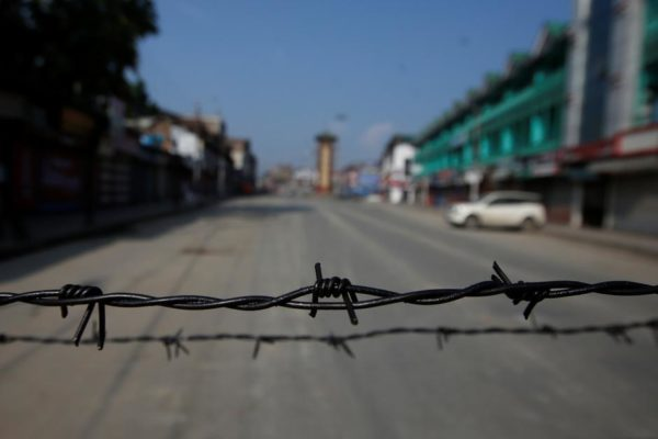 A Reuters file photo of the locked down Srinagar.