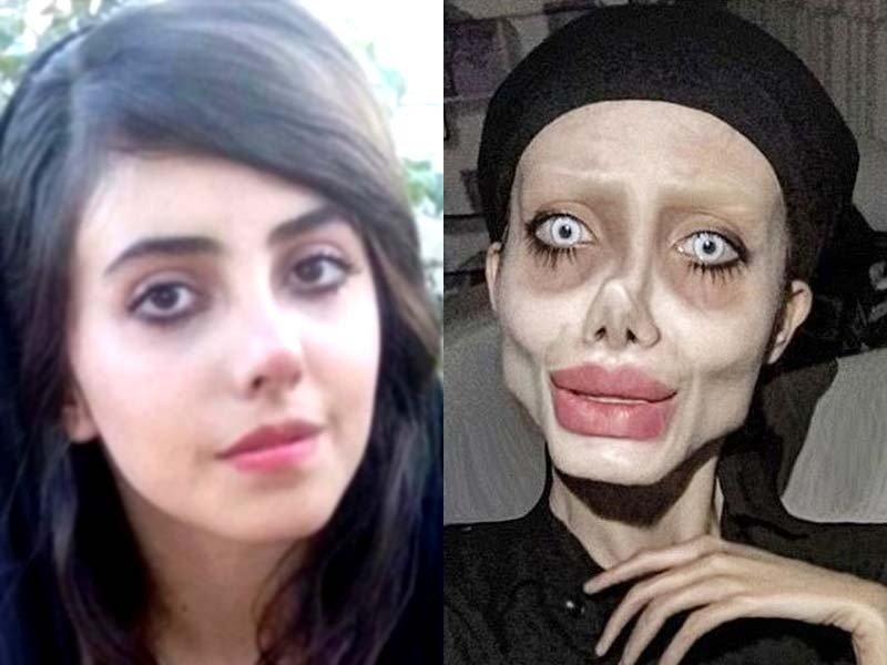 22-year-old shot to prominence after posting images of her eerily gaunt face. PHOTO: INSTAGRAM/SAHAR TABAR