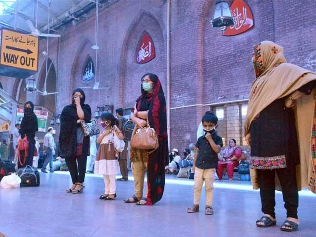 In a file photo passengers are seen waiting at a railway station. PHOTO: EXPRESS