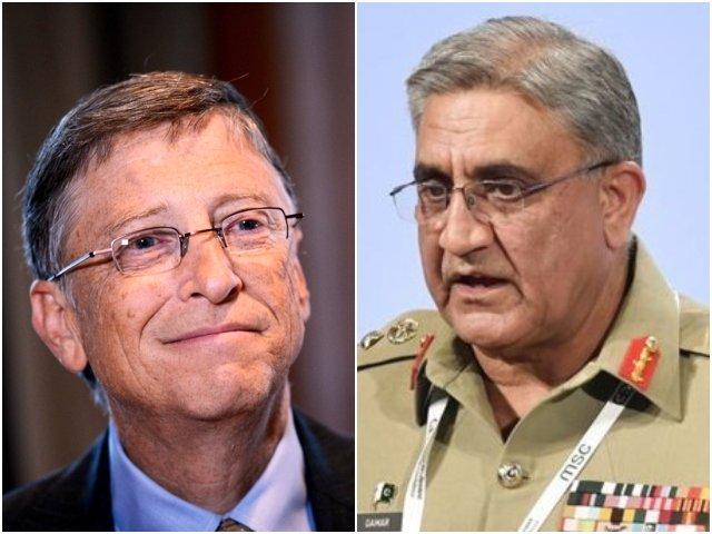 Bill Gates and General Qamar Javed Bajwa discussed the polio eradication drive in Pakistan. PHOTO: FILE