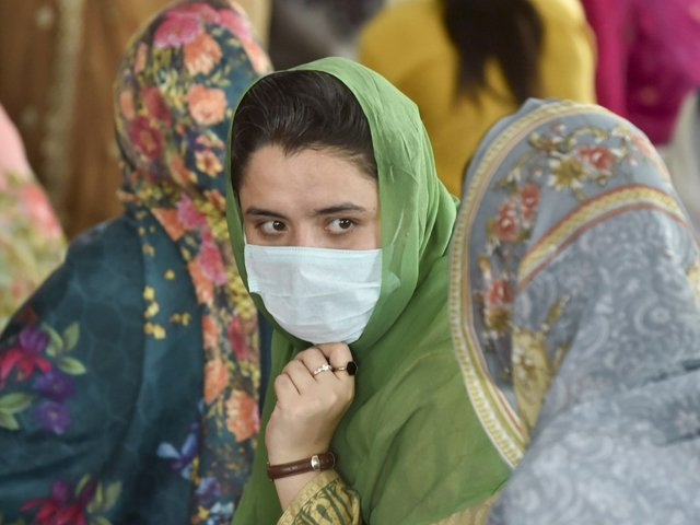 Sikh pilgrims attend a religious ceremony at Gurdwara Dera Sahib in Lahore. PHOTO: AFP/FILE