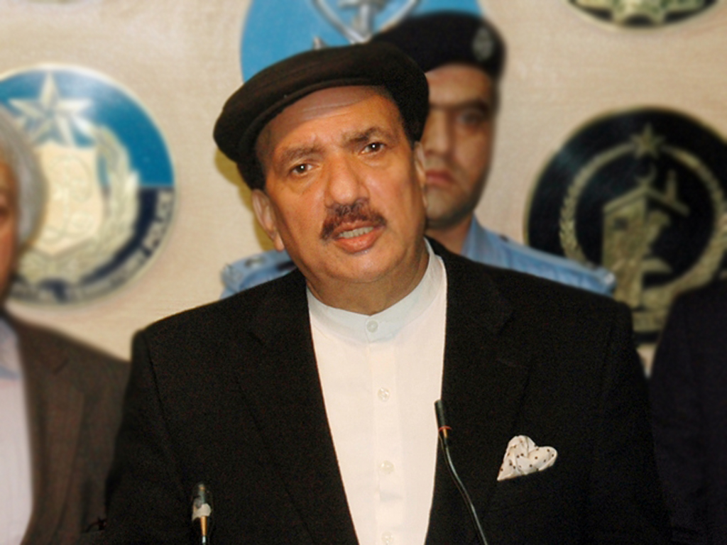 A file photo of Interior Minister Rehman Malik during a press conference. PHOTO: PID / FILE
