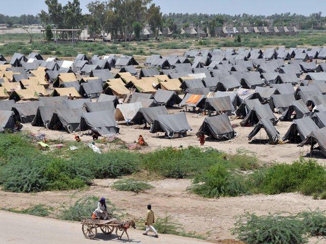 A file photo of the Jalozai Camp. PHOTO: AFP