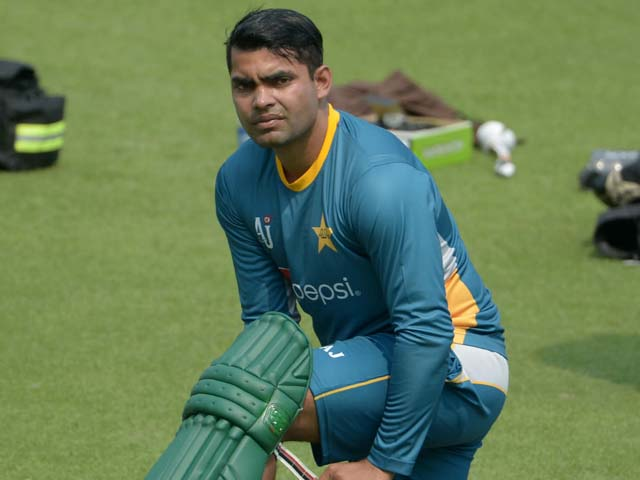 Pakistani cricketer Umar Akmal.  PHOTO: AFP