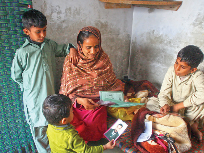 The family of Akmal, one of the victims of the Baldia factory fire, have been struggling to make ends meet since the incident. PHOTO: FILE