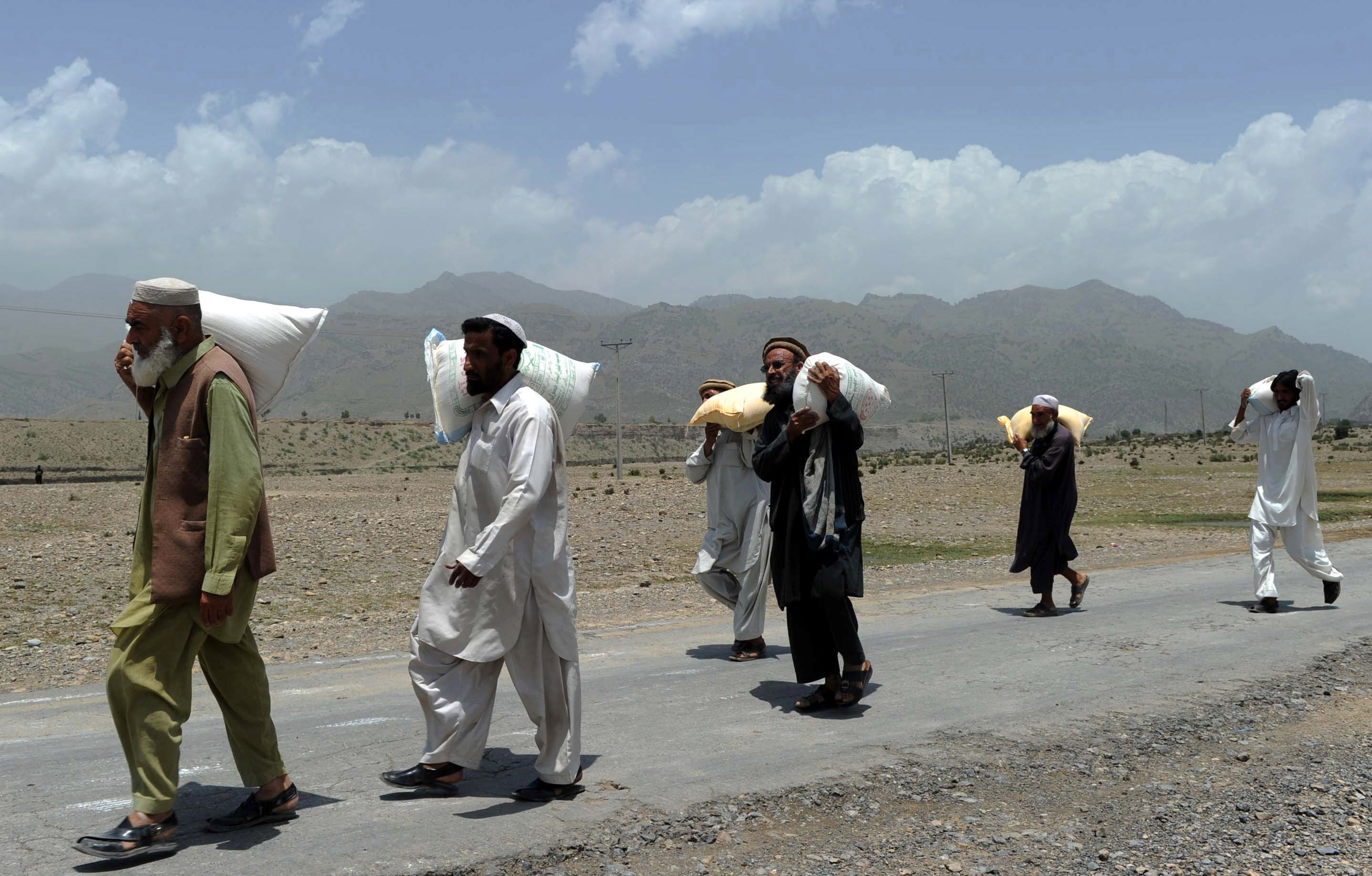 Al-Khidmat Foundation's IDP Coordinator Shah Jehan Afridi said they have registered around 80,000 families in three camps. PHOTO: AFP/FILE