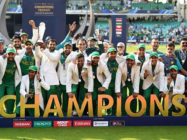 Pakistan thrashed India by 180 runs to win the ICC Champions Trophy title for the first time. PHOTO: GETTY