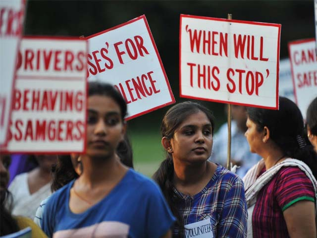 Indian activists protest against violence and crimes against women in Silhuri. PHOTO:AFP
