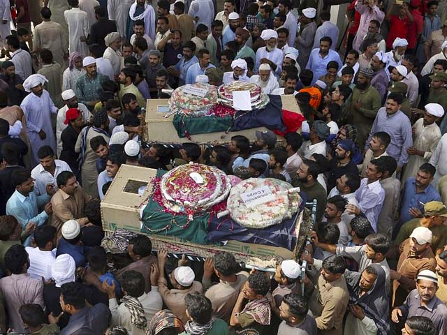A suicide bomber on a motorcycle struck near a police team in the eastern city of Lahore on Monday killing 26 and wounding more than 50, many of them police officers. PHOTO: APP