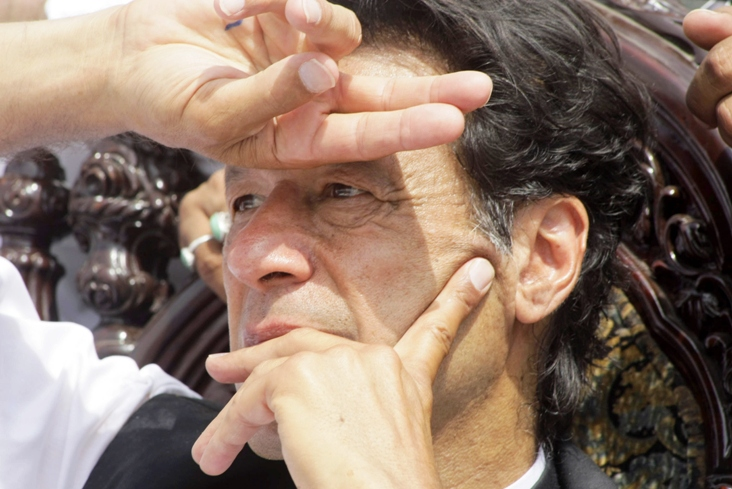 Many young Pakistanis in Saudi Arabia hope to see Imran Khan come to power. PHOTO: AFP/FILE