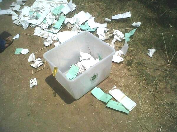 An NA-250 ballot box - photo being shared across social media.