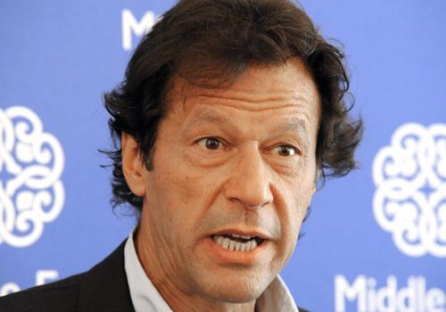 Former Pakistani cricketer and team captain Imran Khan. PHOTO: AFP