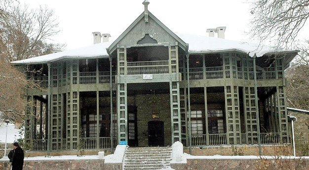A photo showing Jinnah's residence in Ziarat in its former glory. PHOTO: APP