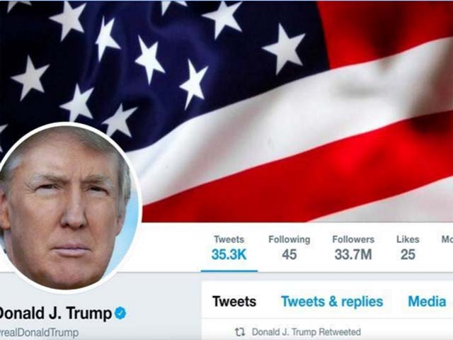 President Donald Trump's Twitter account as seen on July 11, 2017. PHOTO: REUTERS