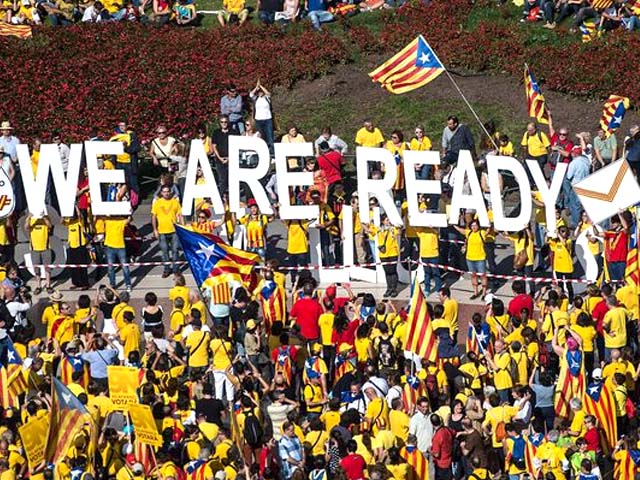 Catalonia has long demanded an independence referendum. PHOTO: GETTY