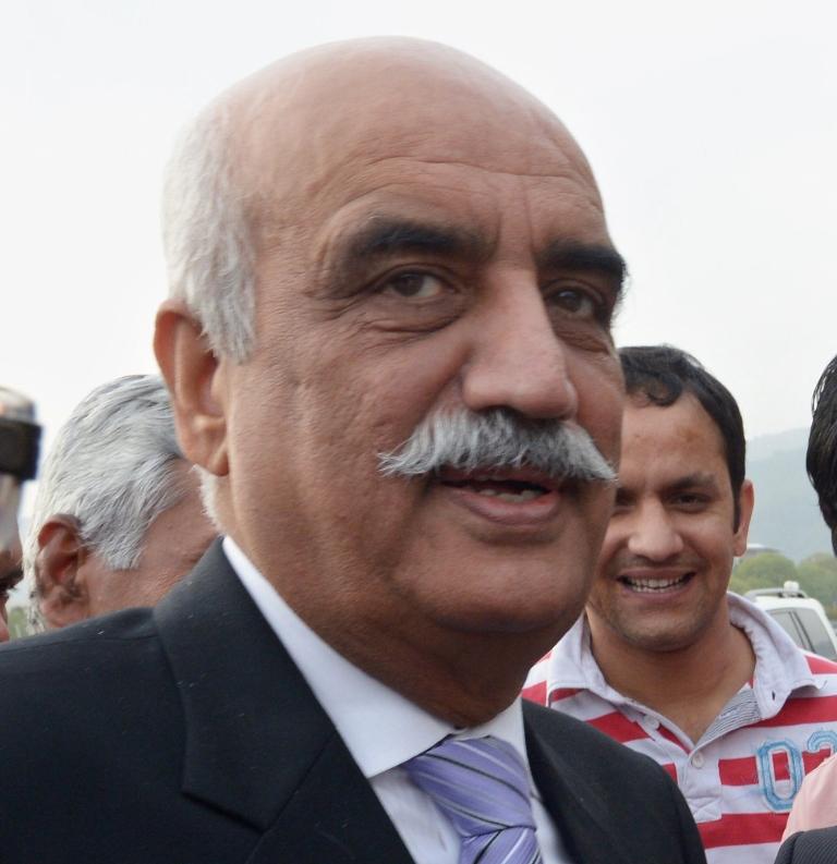 Khursheed Shah calls Gen Kayani to convey civilian resolve to tackle terrorism. PHOTO: AFP