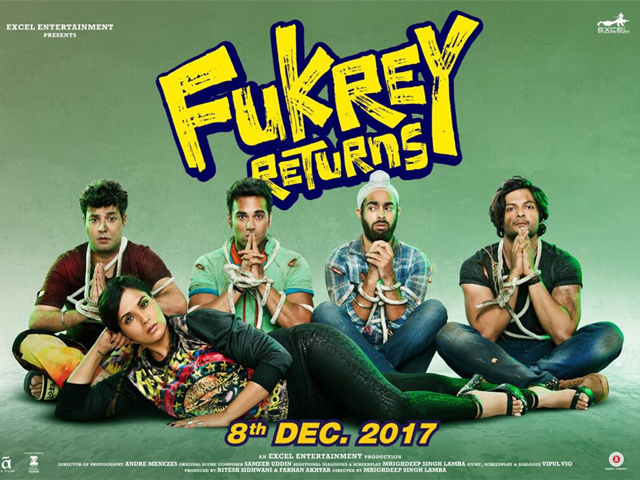 Fukrey Returns is a film that does not offer any logic or sense in its narrative and neither is it thought-provoking – it is simply an all-out entertainer. PHOTO: IMDB