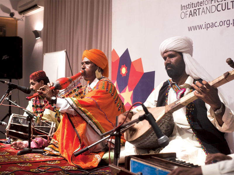 The show spotlighted a Murliyun or Been, a folk music instrument from Thar Desert that was traditionally played by snake charmers to capture and kill venomous snakes. PHOTO: MYRA IQBAL/EXPRESS