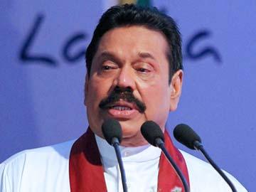 Sri Lankan president Mahinda Rajapaksa speaks at a meeting in Colombo ahead of the Commonwealth summit. PHOTO: AFP
