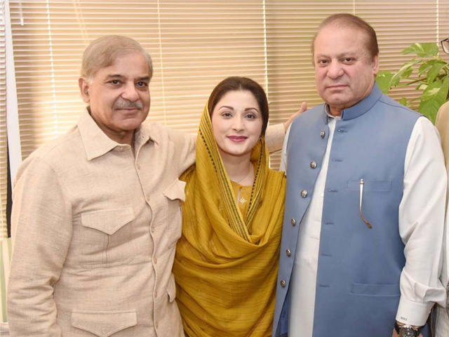 For PML-N, their trump card is not Shehbaz, but Nawaz and Maryam. PHOTO: TWITTER/ MARYAMNSHARIF