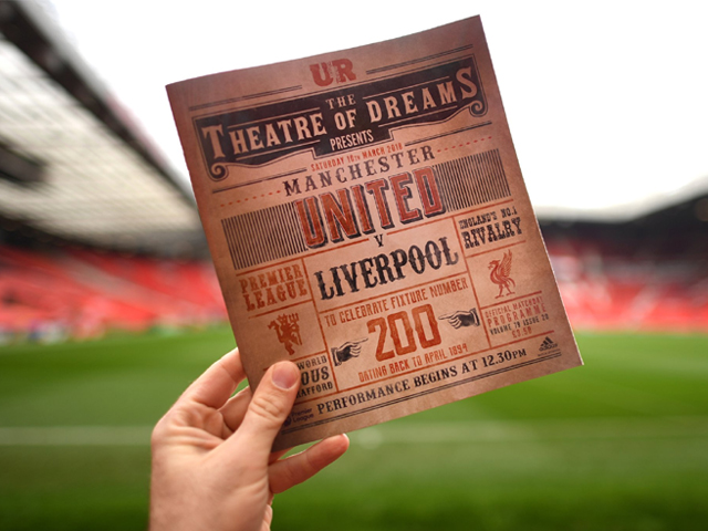The Matchday programme ahead of the Premier League match between Manchester United and Liverpool at Old Trafford on March 10, 2018 in Manchester, England. PHOTO: GETTY