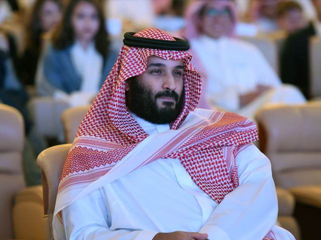 Saudi Crown Prince Mohammed bin Salman attends the Future Investment Initiative (FII) conference in Riyadh, on October 24, 2017. PHOTO: AFP