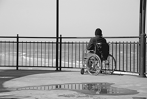 File photo of a person in a wheelchair. PHOTO: FILE