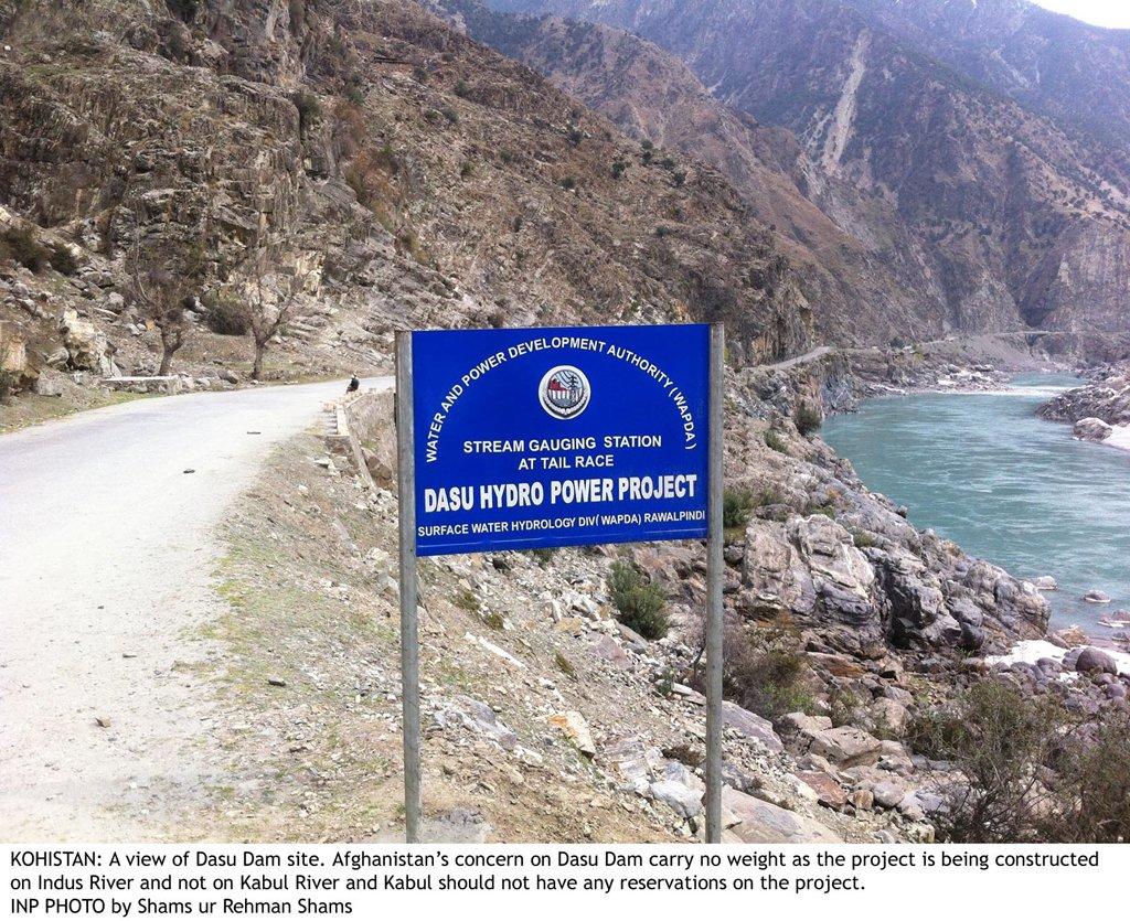 A view of Dasu Dam site. PHOTO: INP