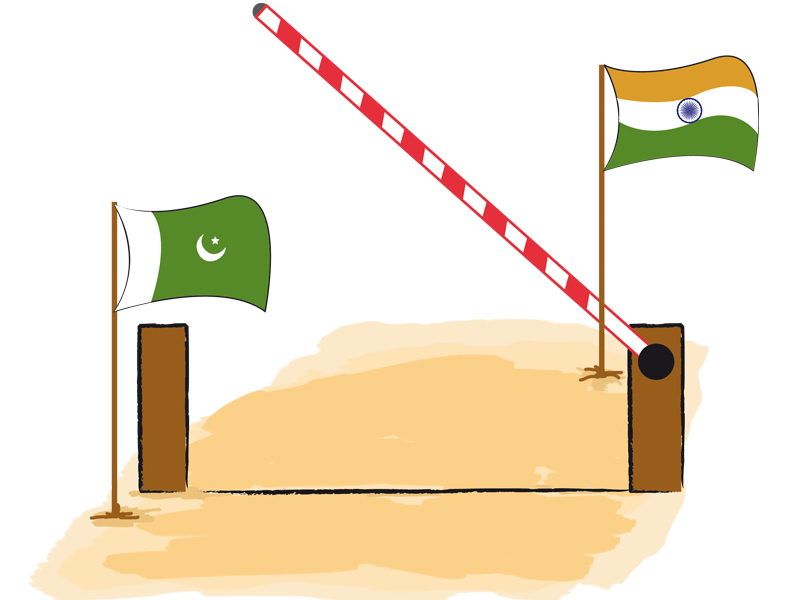 India has accepted Pakistan's demand to exclude 160 items – mainly textile products – from its Pakistan-specific Sensitive List. ILLUSTRATION: TALHA AHMED KHAN