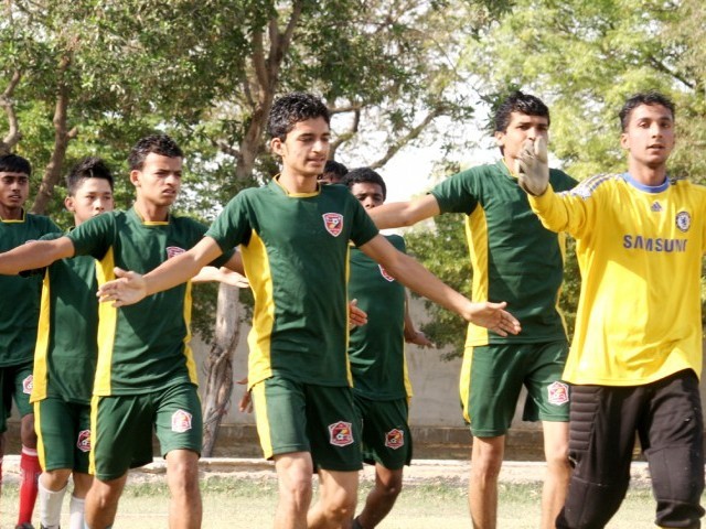Under-18 players warm up before training. PHOTO: ATHAR KHAN/ EXPRESS