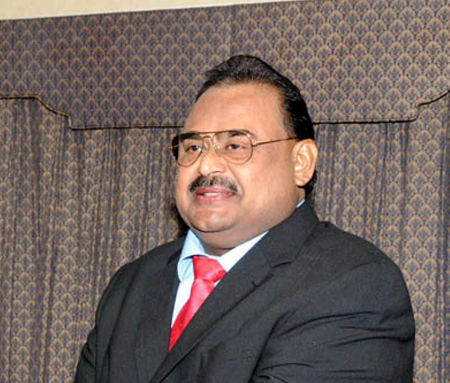 Muttahida Qaumi Movement (MQM) chief Altaf Hussain. PHOTO: PID
