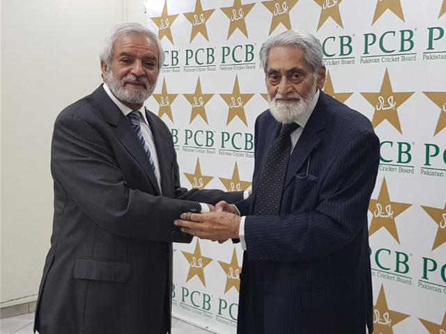 Ehsan Mani has been elected unopposed as the new chairman of PCB in the board's election which was held at Gaddafi Stadium, Lahore on Tuesday. PHOTO: PCB