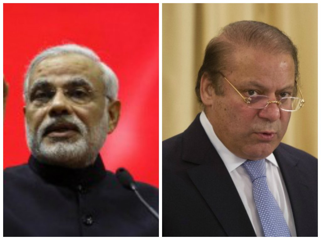 Indian premier Narendra Modi (L) and Prime Minister Nawaz Sharif (R). PHOTOS: REUTERS