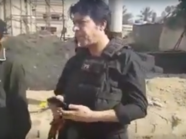PTI MNA Faisal Vawda arrived at the scene with a gun and a bulletproof vest. PHOTO: SCREENSHOT