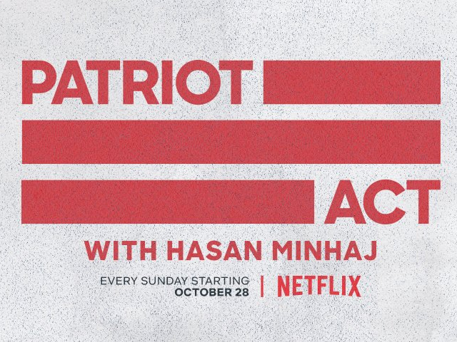 A new episode of Patriot Act airs every Sunday on Netflix. PHOTO: IMDB