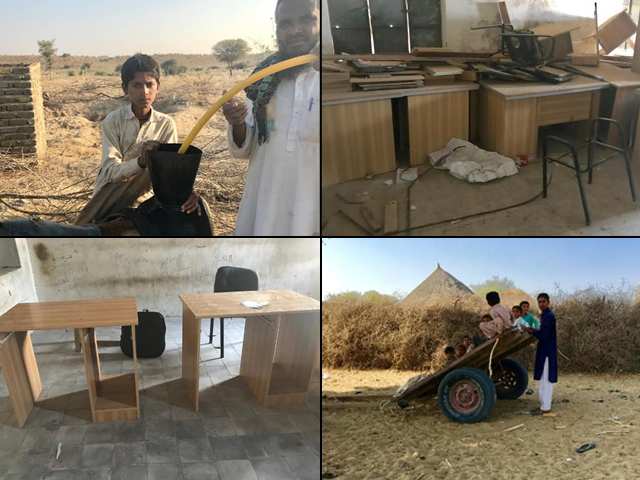 How can we expect the children of rural Sindh to get an education when their basic rights have been stolen from them by the government? PHOTO: RABIA AZFAR